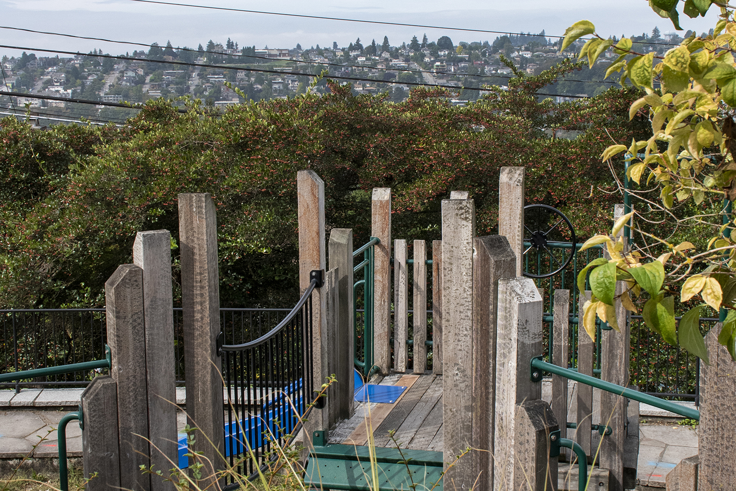 Best found on foot, this little neighborhood spot is great for the kiddos. Soundview Terrace, aka Rachel's Park, offers a large play area with slides and swings, and picnic tables with scenic views for the adults.{ }(Image: Rachael Jones / Seattle Refined)