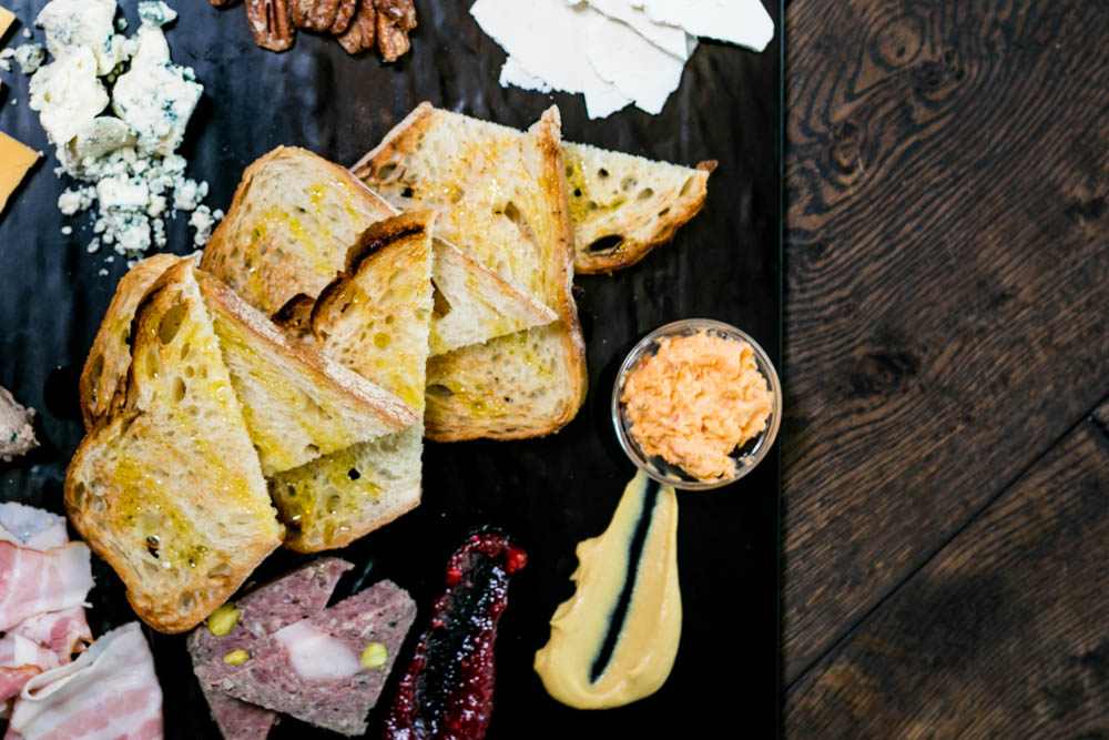 The Grand Mother Board: three cheeses, three meats, mustard, pickles and jam / Image: Amy Elisabeth Spasoff // Published: 4.23.18