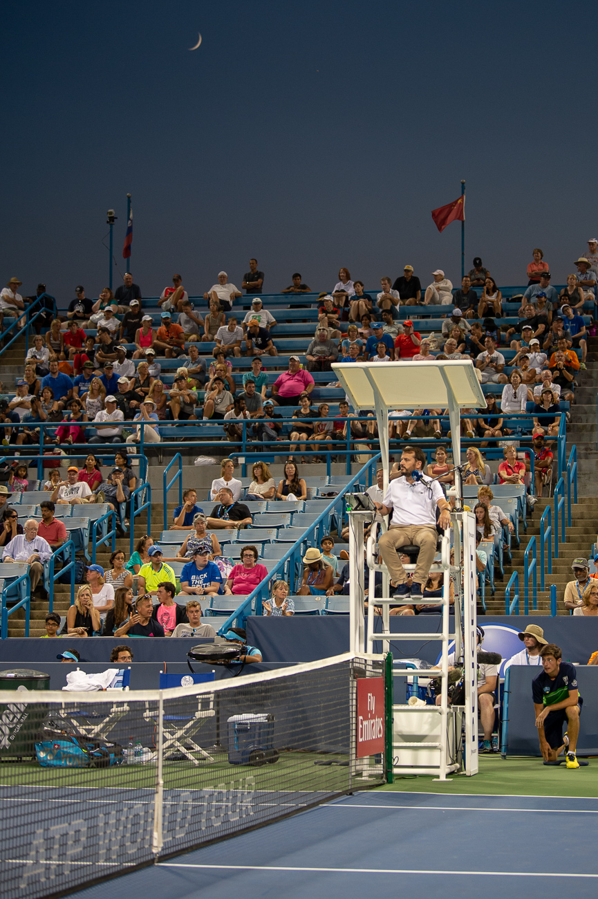 Evening session at the Western & Southern Open on Monday, August 13{ }/ Image: Chris Jenco // Published: 8.14.18