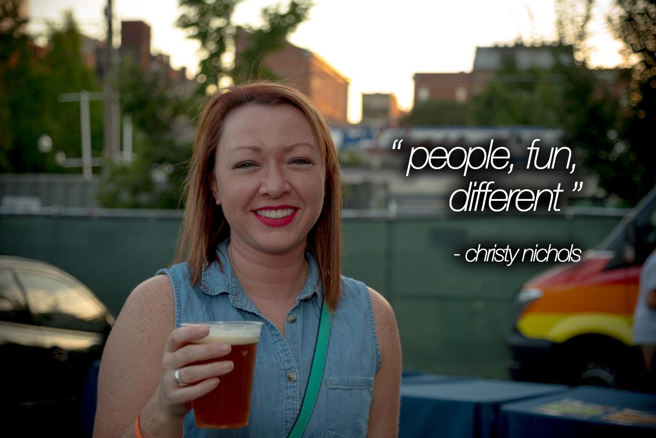 """People, Fun, Different"" - Christy Nichols / Image: Phil Armstrong, Cincinnati Refined"