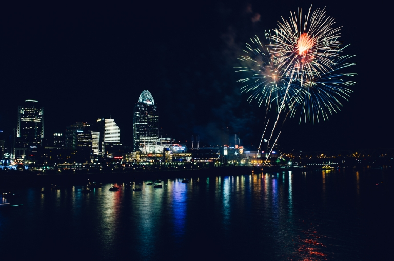 Fireworks Friday from the Roebling. August 9, 2013 / Image: Corey Stevens