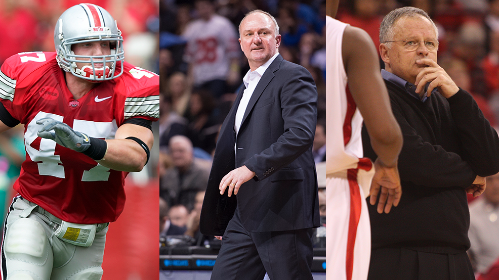 OHio State Athletics Hall of Fame - AJ Hawk Thad Matta Jim Foster.png
