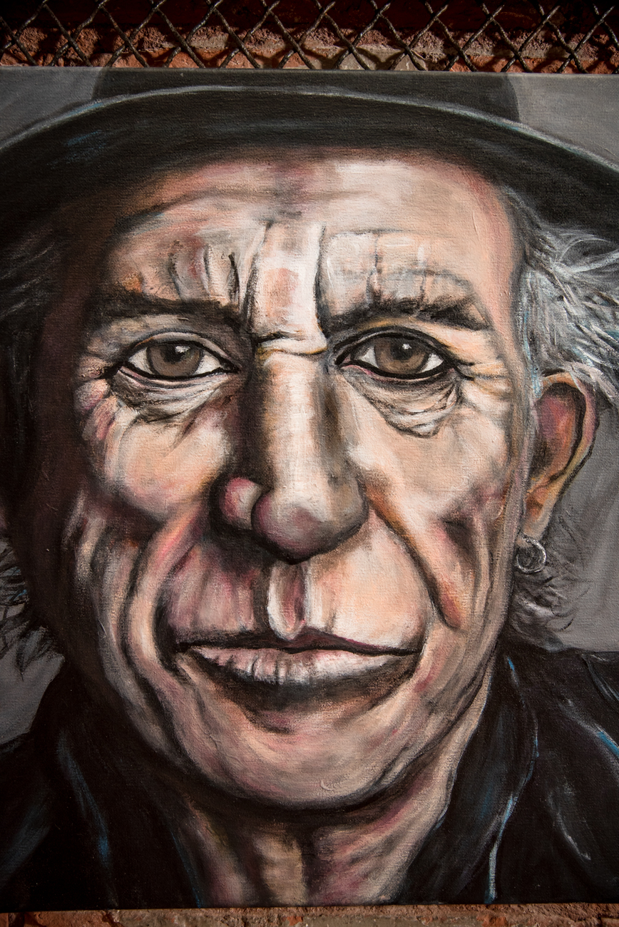 A portrait of Keith Richards  by Linnoir Rich with Art by Linnoir / Image: Melissa Sliney // Published: 6.26.19