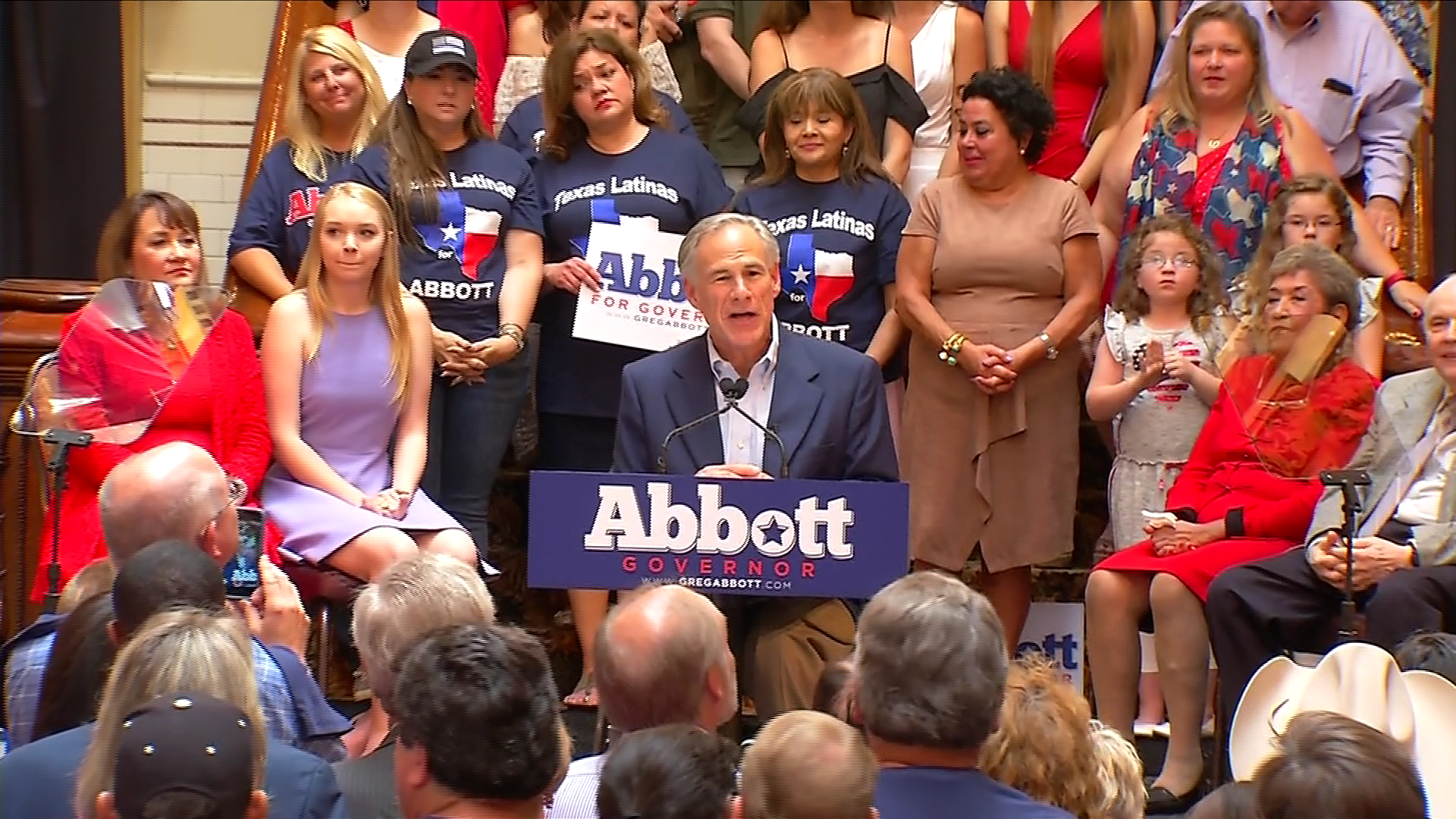 Republican Texas Gov. Greg Abbott has launched his re-election campaign with no challengers yet in sight and a new immigration crackdown that could test Hispanic voters in 2018. (CBS Austin)