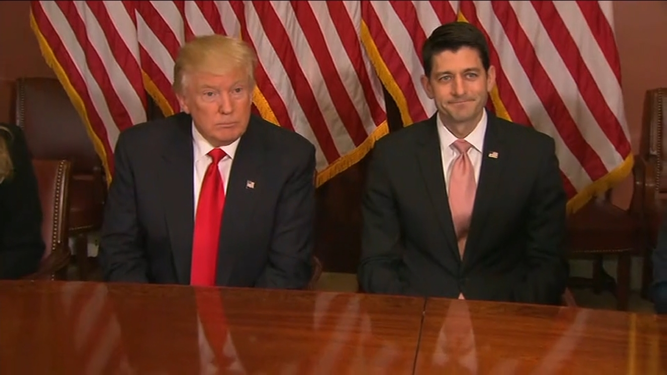 "Donald Trump described his meeting with House Speaker Paul Ryan as ""an honor."" (CNN Newsource)"