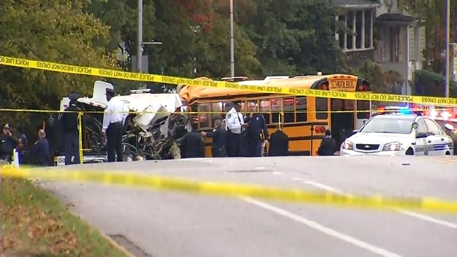 6 killed in Baltimore crash involving school bus, commuter bus