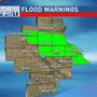 Torrential rain leads to several flood warnings across eastern Iowa