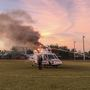 Monroe County Fire Rescue helicopter catches fire with patient on board