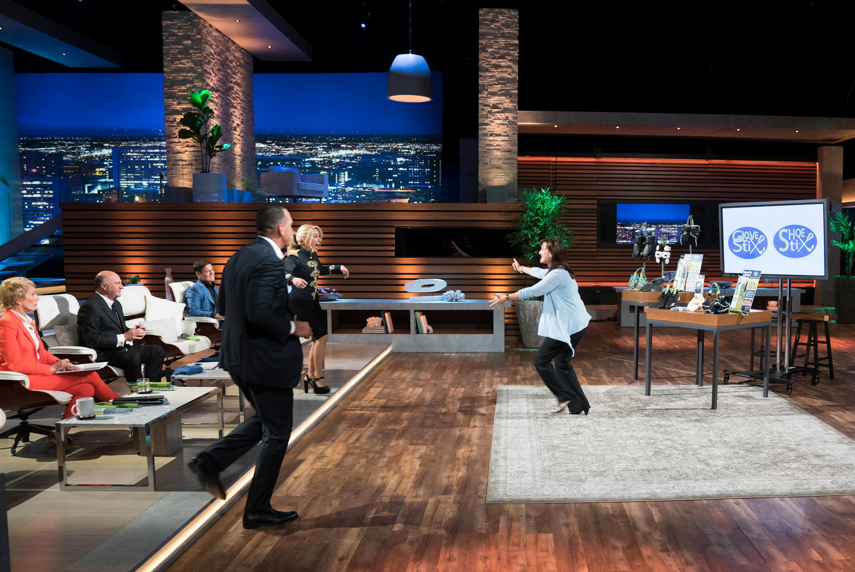 Local mom/entrepreneur Krista Woods went into the Shark Tank looking for $150,000 investment for a 10 percent share of her company. She left with a deal for $150,000 for 17.5 percent share in the company, split between two sharks, Lori Greiner and Alex Rodriguez. (Image: ABC/Michael Desmod)<p></p>