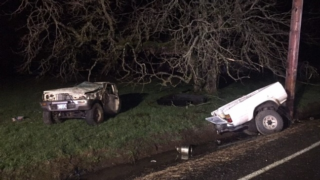 Sheriff: Teen driver walks to nearby home, calls 911 after crash tears truck in two