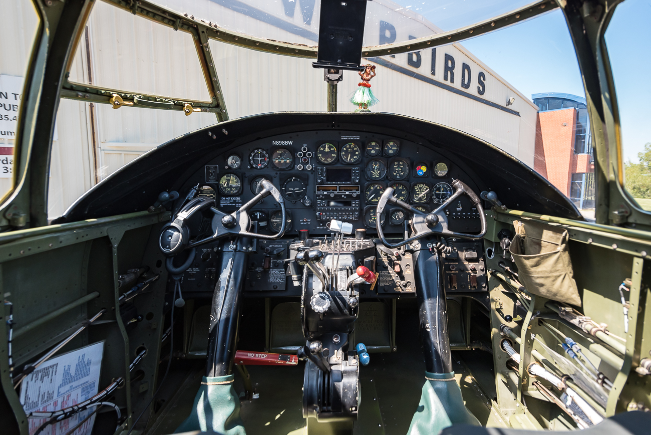 Cockpit of a B-25 Bomber / Image: Phil Armstrong, Cincinnati Refined // Published: 9.6.17
