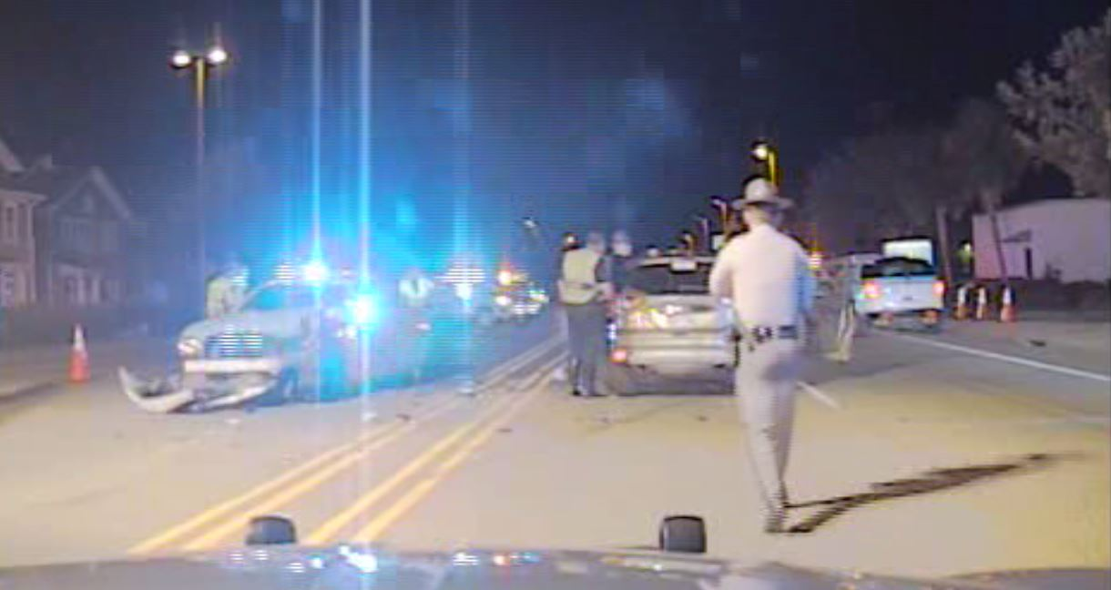 Dash cam video obtained through a Freedom of Information Act request of the wreck involving two Myrtle Beach police officers. (SCDPS)