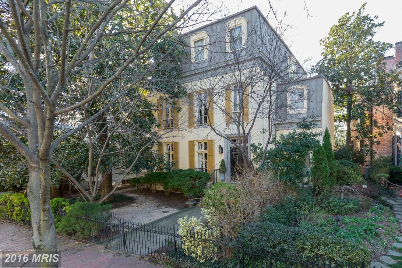 This Traditional-style house, also in Georgetown, was built in 1900 and has seven bedrooms, four full bathrooms and one half bathroom. It sold in April for $6M -- $500,000 under listing price. TTR Sotheby's represented the seller and Washington Fine Properties represented the buyer. (Image: Courtesy MRIS)