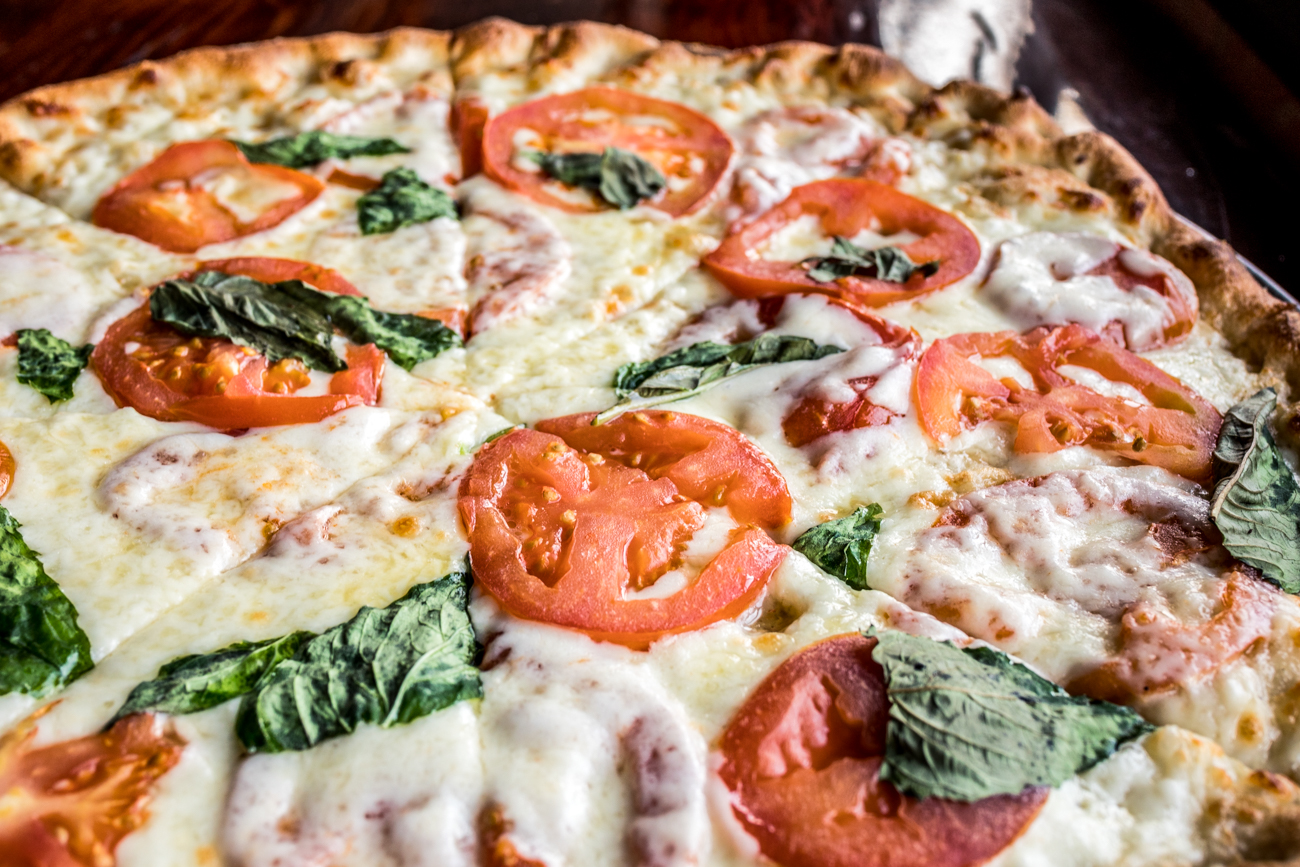 Margherita Pizza: garlic and olive oil base, sliced tomato, fresh mozzarella, and fresh basil / Image: Catherine Viox{ }// Published: 2.3.20