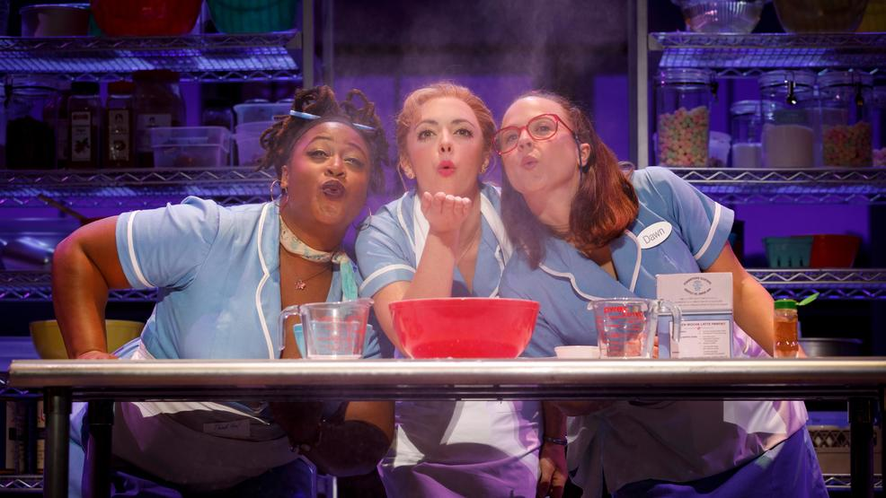 Charity Angel Dawson, Desi Oakley and Lenne Klingaman in the National Tour of WAITRESS  Credit Joan Mar.jpg