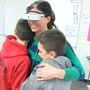 High-tech glasses help legally blind mother see