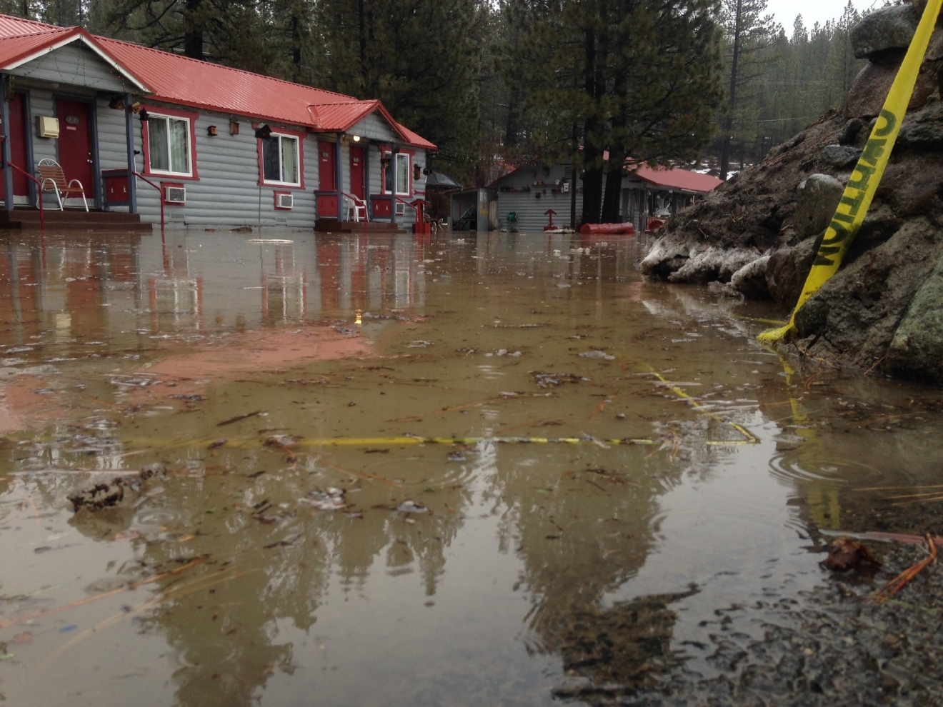 Flooding And High Winds Hit Northern California In Several