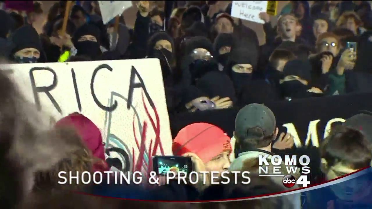UW protest turns ugly. (KOMO)