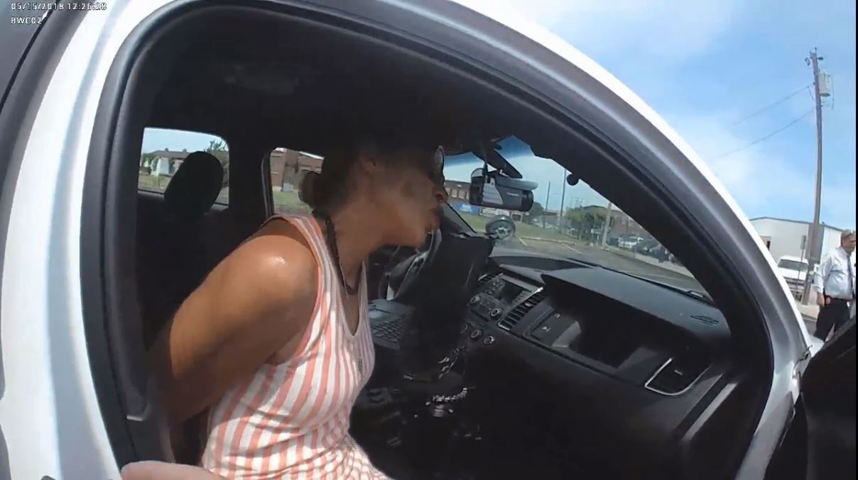 Body cam video of Taheerah Ahmad's arrest released (Courtesy of the Tulsa Police Department)