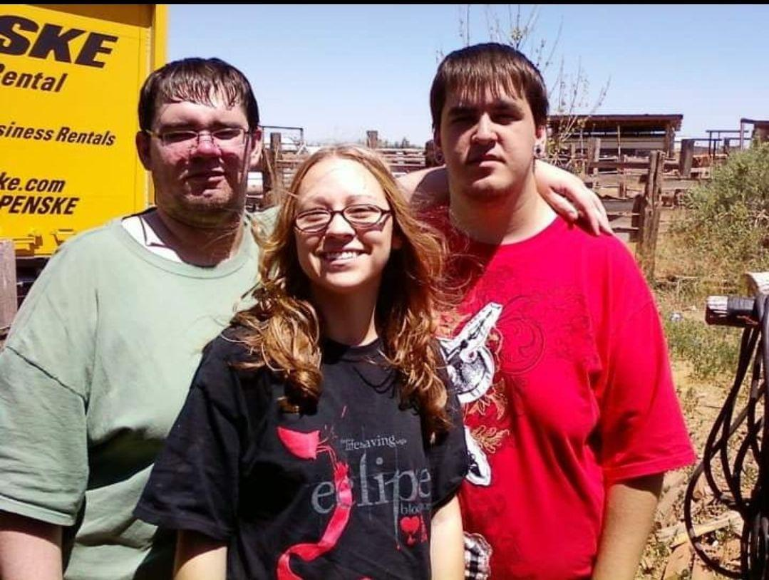 Me and my 2 younger brothers, Jearl and Skylar. This was about 10 years ago. We have all moved since then and haven't been able to take another one since. This picture was taken in New Mexico (Chime In)