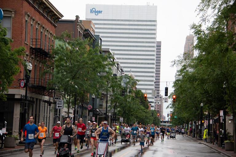 <p>The annual OTR 5k took place on the rainy morning of Saturday, May 19. / Image: Dr. Richard Sanders</p>