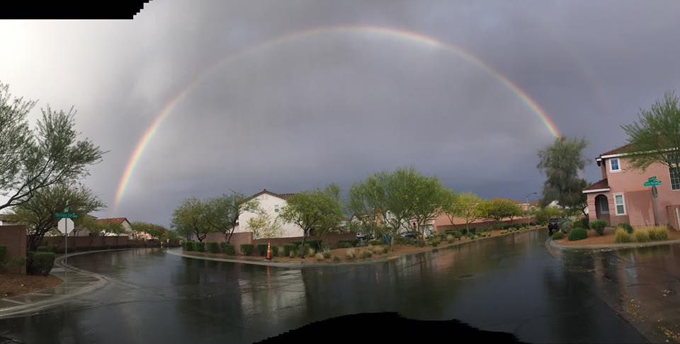 GALLERY: Beautiful double rainbow stretches over Las Vegas ...