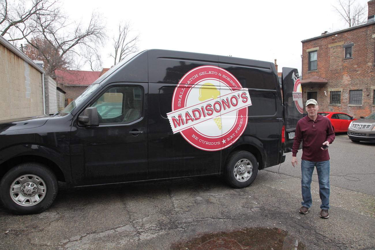 Packed with large-capacity freezers, Madisono's sole delivery truck prepares to make runs to Kroger, Whole Foods Market, and a variety of specialty markets in the region. / Image: Chez Chesak{ }// Published: 2.18.19