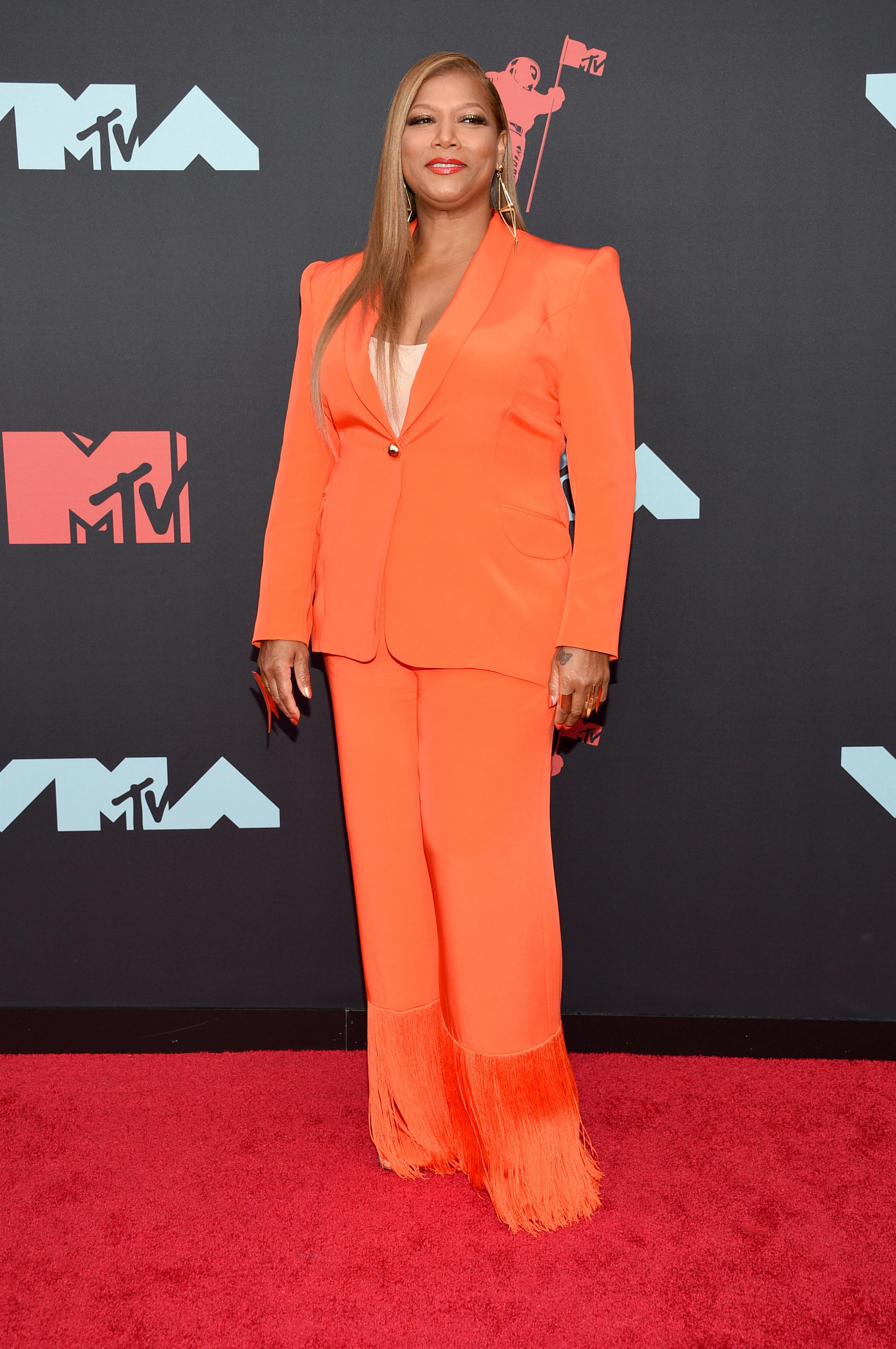 Queen Latifah arrives at the MTV Video Music Awards at the Prudential Center on Monday, Aug. 26, 2019, in Newark, N.J. (Photo by Evan Agostini/Invision/AP)