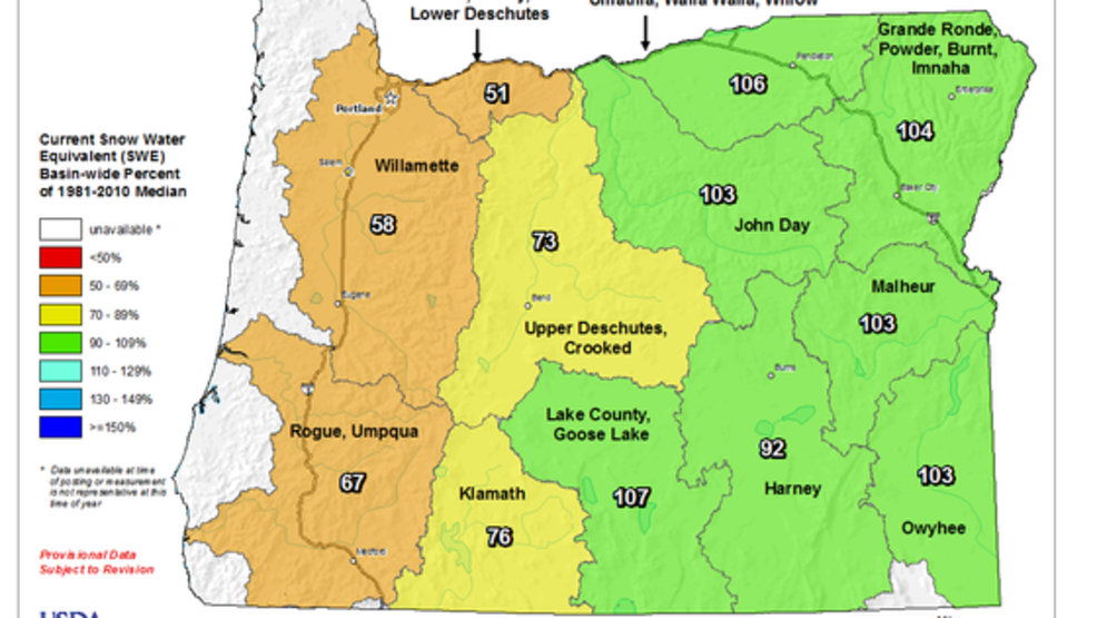 Western Oregon Could Use Winter Weather As Snowpack Remains Well