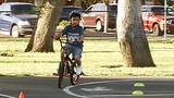 Maple Elementary kids Walk and Roll at Bike Rodeo