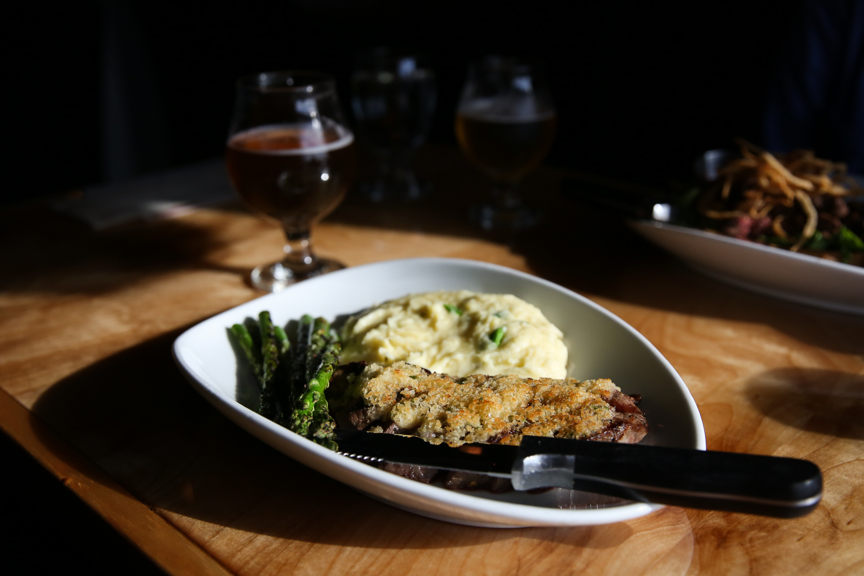 Parmesan-crusted steak from The Griffon Gastropub.{&amp;nbsp;}(Amanda Andrade-Rhoades/DC Refined)<p></p>