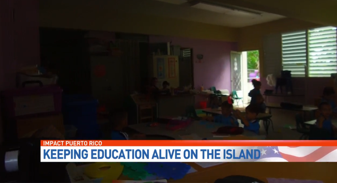 Students in Puerto Rico are still studying in the dark. (WPEC)