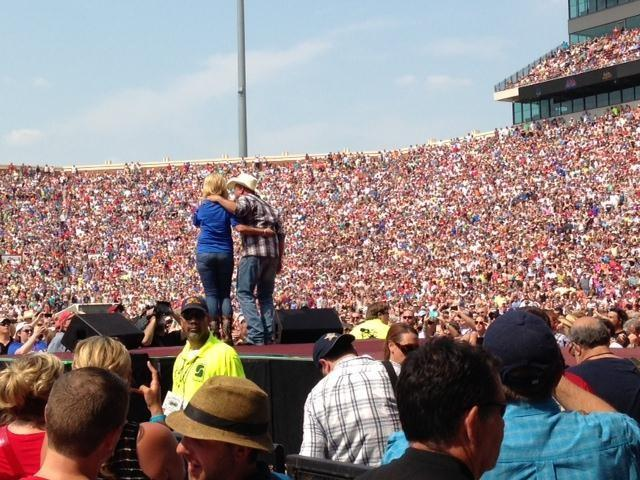Brooks was joined on stage by his wife and country music star Trisha Yearwood.