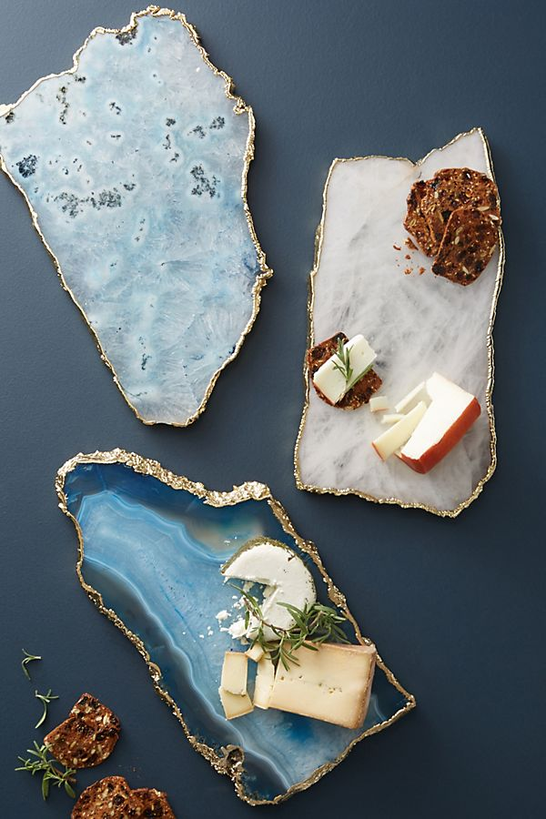 <p>Holy cheese balls, how cute and elegant is this Agate Cheese Board.{&nbsp;} Pair with some fancy cheese and wine to really impress. $78 (Image: Anthropologie){&nbsp;}</p><p></p>