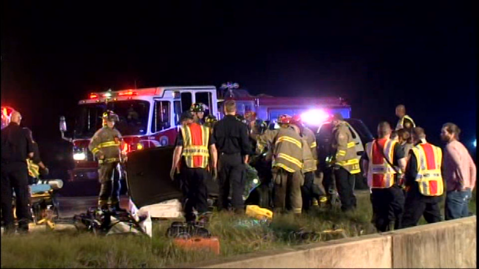 Two drivers were hurt in a wrong way crash on Loop 1604 at Bulverde on Thursday, October 19, 2017. (Photo: Sinclair Broadcast Group)