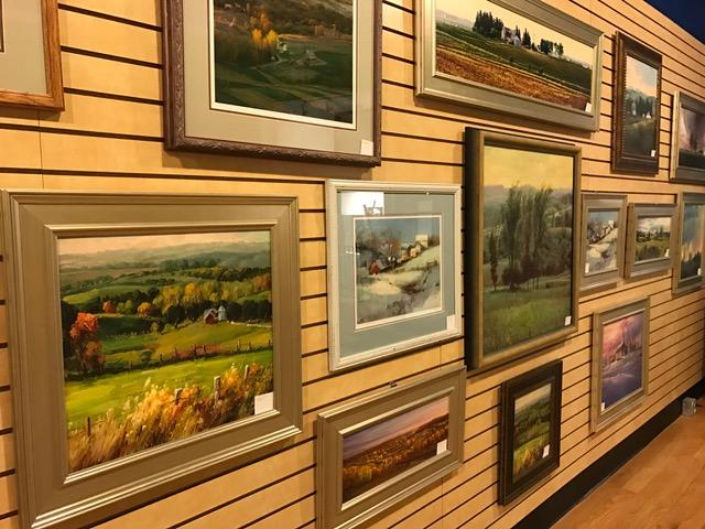 Original artwork on display in the Artisan's Sanctuary's gallery.