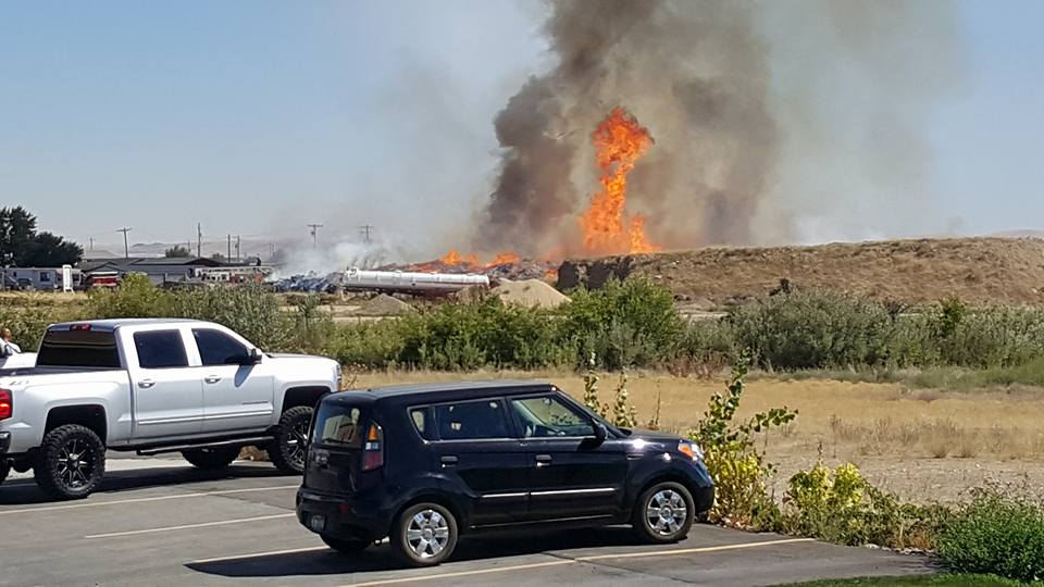 Firefighters Continue To Douse Idaho Recycling Plant Days After