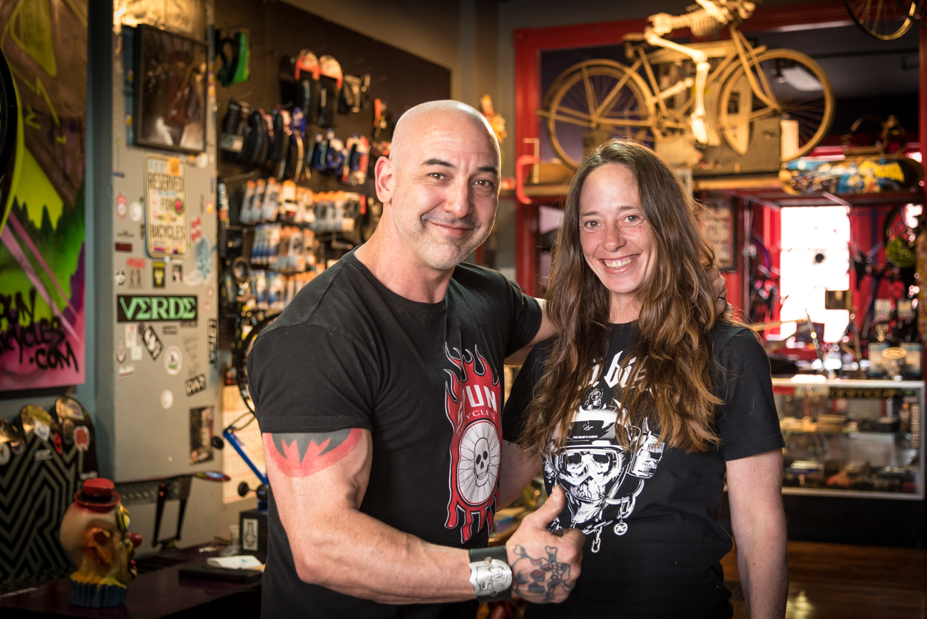 Dominic and Judi LoPresti, owners of SPUN Bicycles / Image: Phil Armstrong, Cincinnati Refined // Published: 3.19.17