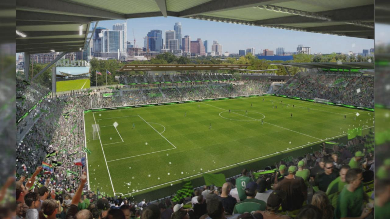 Precourt Sports Ventures unveiled their plans for a stadium in downtown Austin (Courtesy: Precourt Sports Ventures)<p></p>