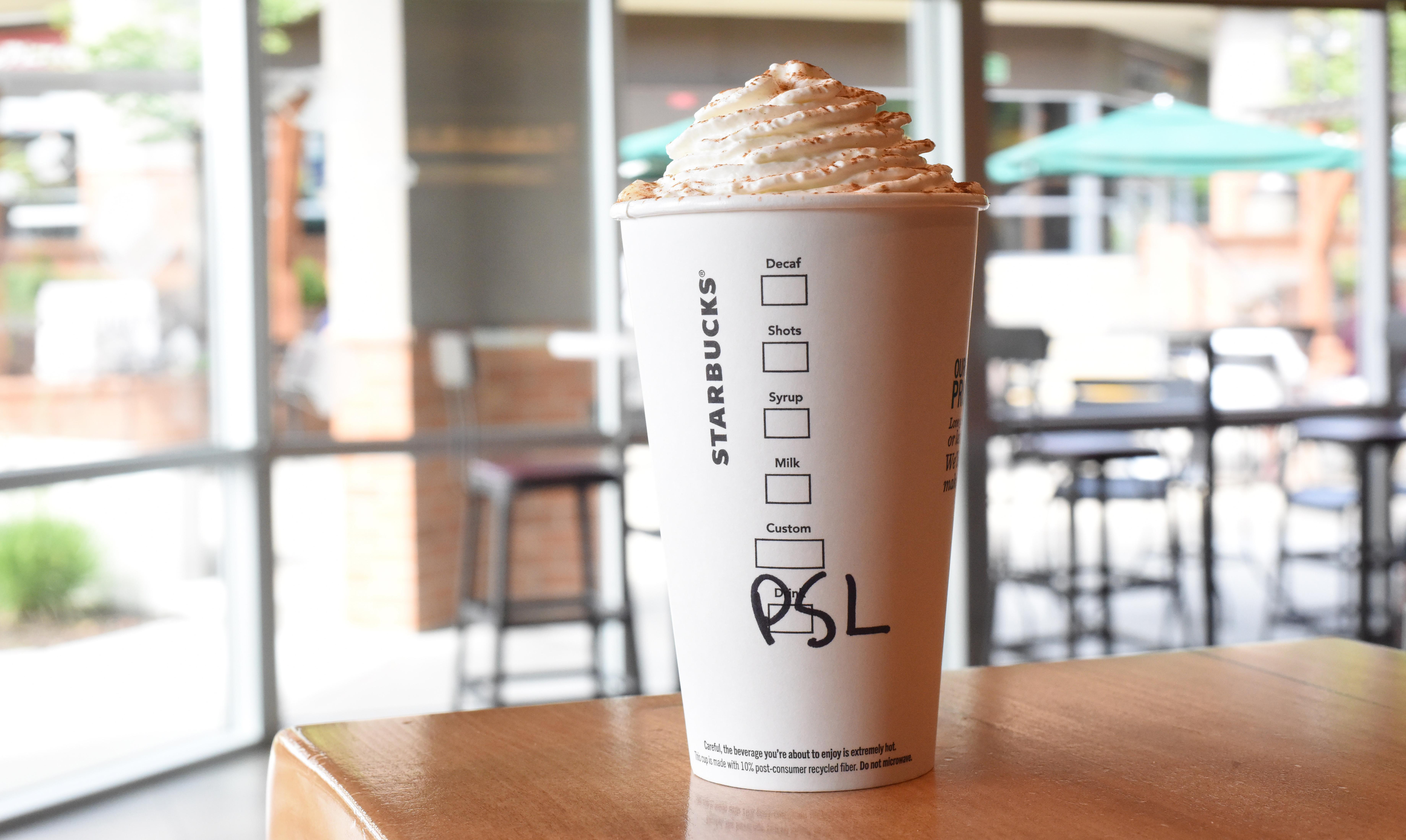 The Pumpkin Spice Latte is back in stores as of August 28, 2018. (Image: Courtesy Starbucks)