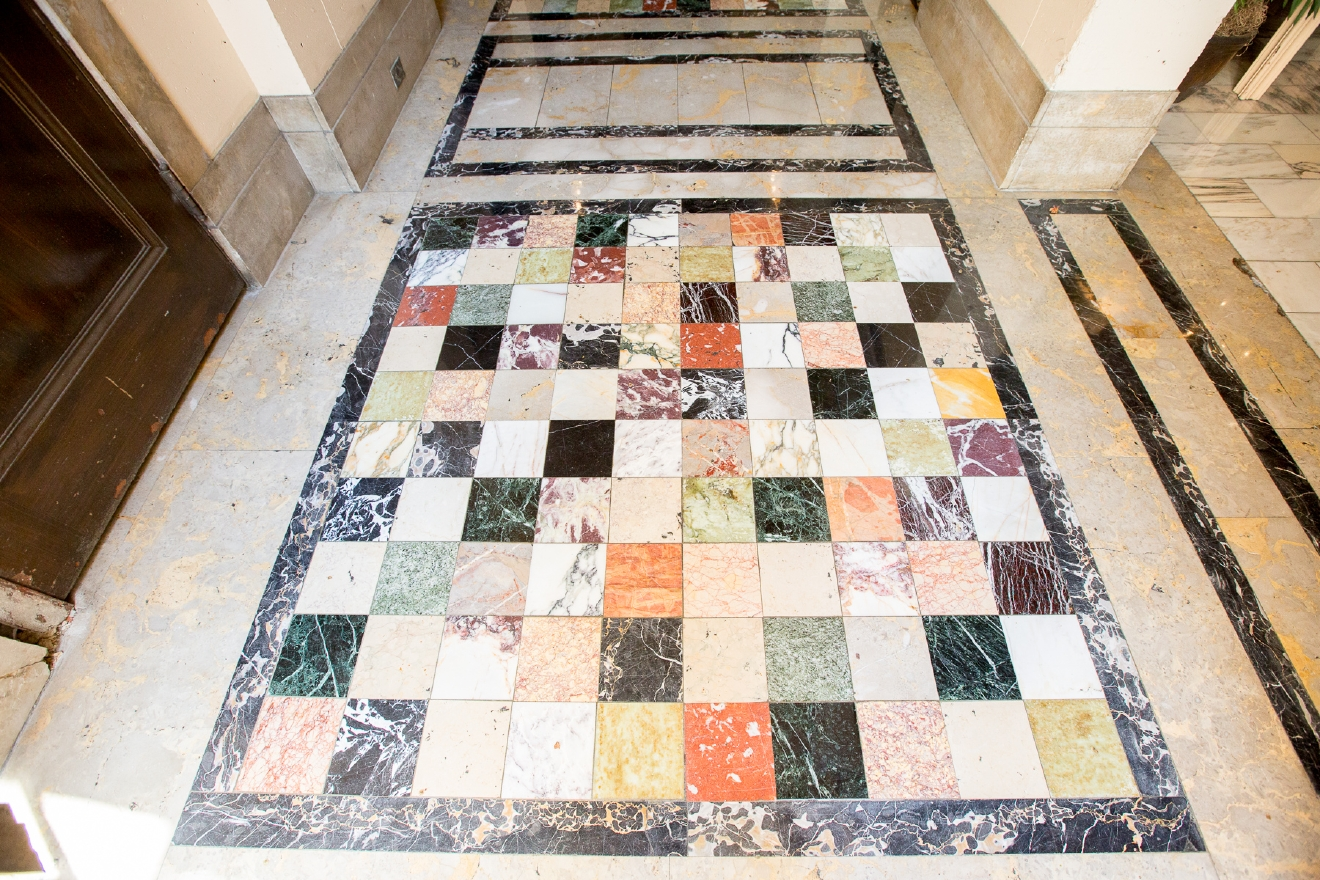 Some of The Belvedere's original floor tile / Image: Daniel Smyth Photography