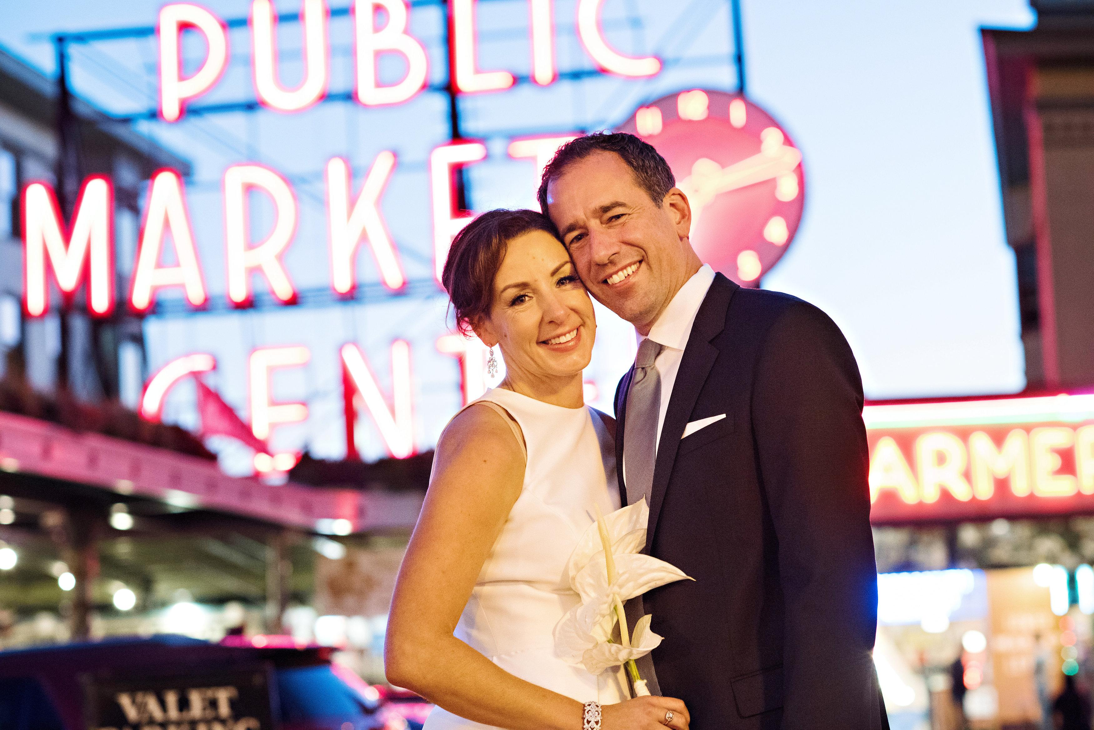 Emelie and Dominik got married on October 5th, 2015 with the beautiful backdrop of Beecher's Loft in Pike Place Market with their reception at Axis in Pioneer Square. The couple and Barbie Hull strolled around Pike Place Market to capture the beautiful images you are about to indulge yourself in! Click through the gallery and get wedding inspo, or to just gaze upon the beauty that is this glorious wedding. Do you or somebody you know have a wedding you think deserves the spotlight? We LOVE (pun intended) documenting love stories, so email us at hello@seattlerefined.com to submit some wedding or engagement shots! (Image: Barbie Hull Photography)