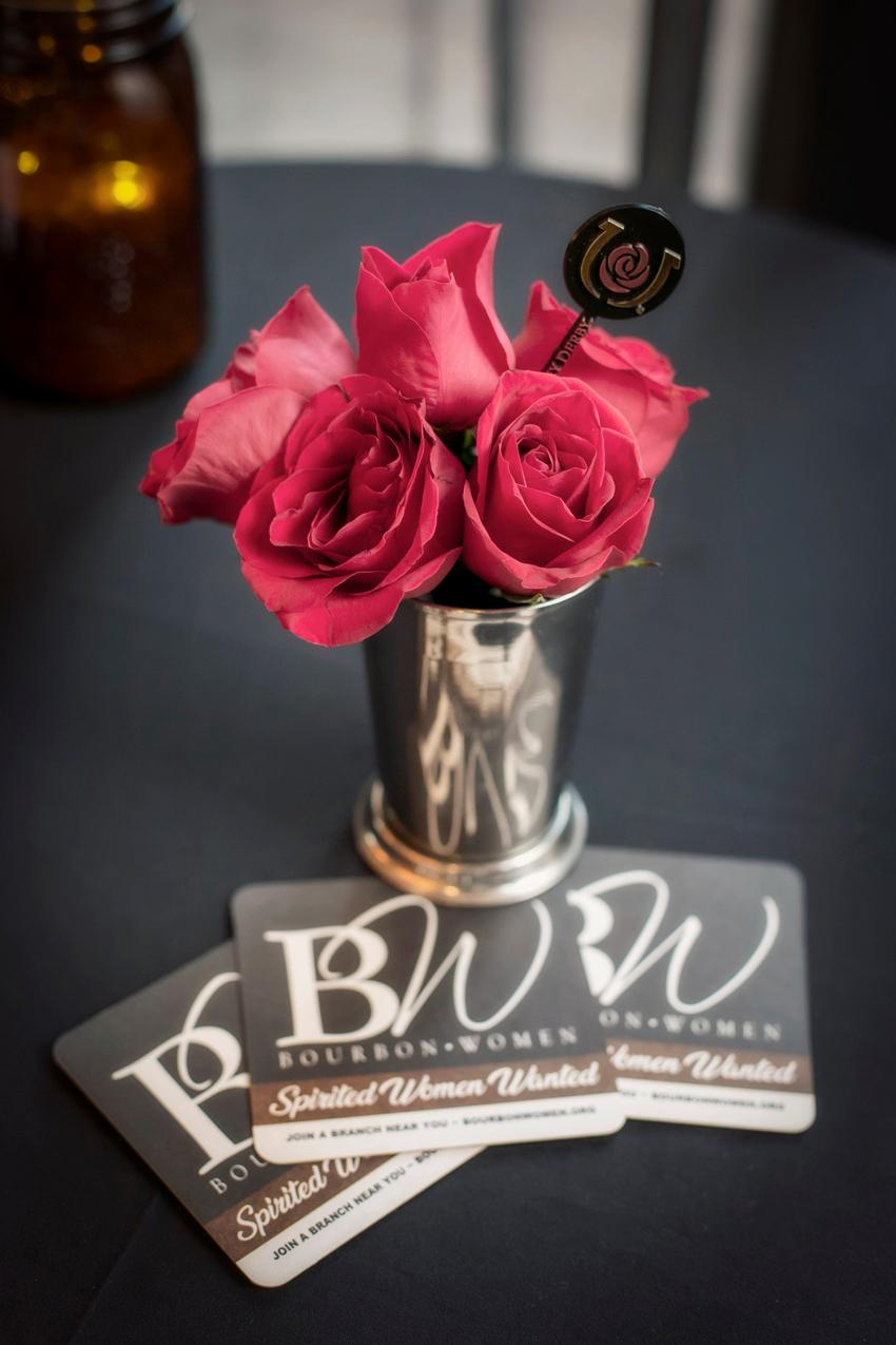 Hats & Haute, a Kentucky Derby event with Woodford Reserve, was held on Tuesday, April 16, 2019 at Hotel Covington. The Northern Kentucky/Cincinnati chapter of Bourbon Women put the networking event together to celebrate bourbon and learn more about it with the help of the official bourbon of the Kentucky Derby: Woodford Reserve. Guests dressed in their Derby best to enjoy southern-styled bites and watch demonstrations on how to make Mint Juleps and the Finlandia Vodka Oaks Lilly. They got to take home new Derby cocktail tricks as well as a limited-edition Woodford Reserve poster and special prizes. / Image: Mike Bresnen Photography // Published: 4.17.19