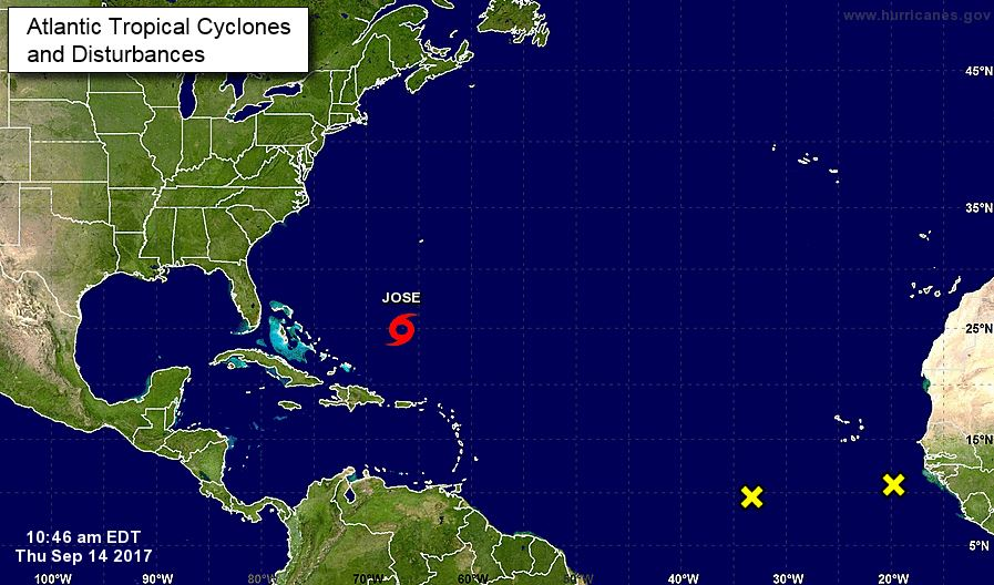 Tracking waves in the Atlantic. (NHC)