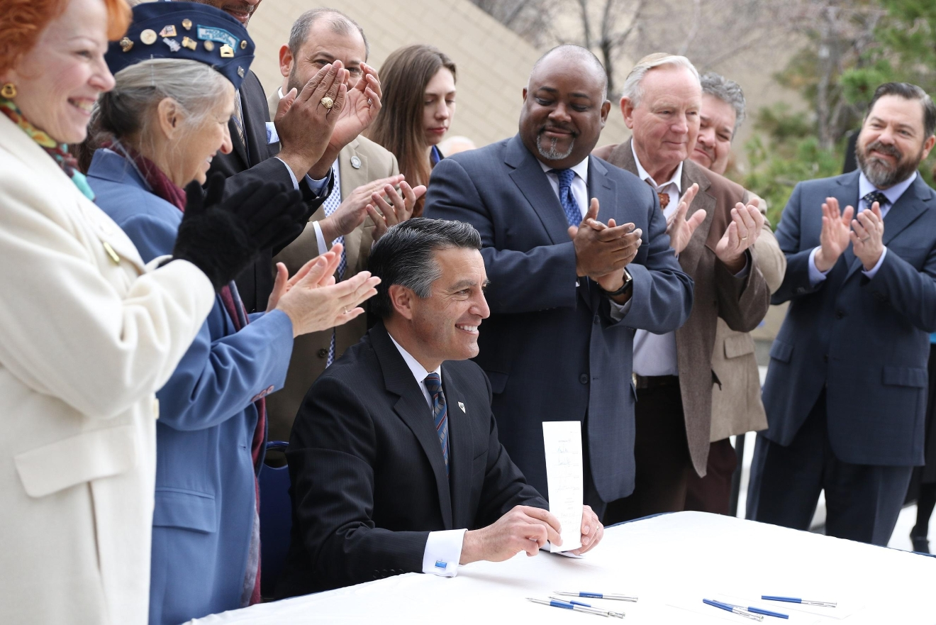 Governor Sandoval signs first policy measure of the 79th Regular Session