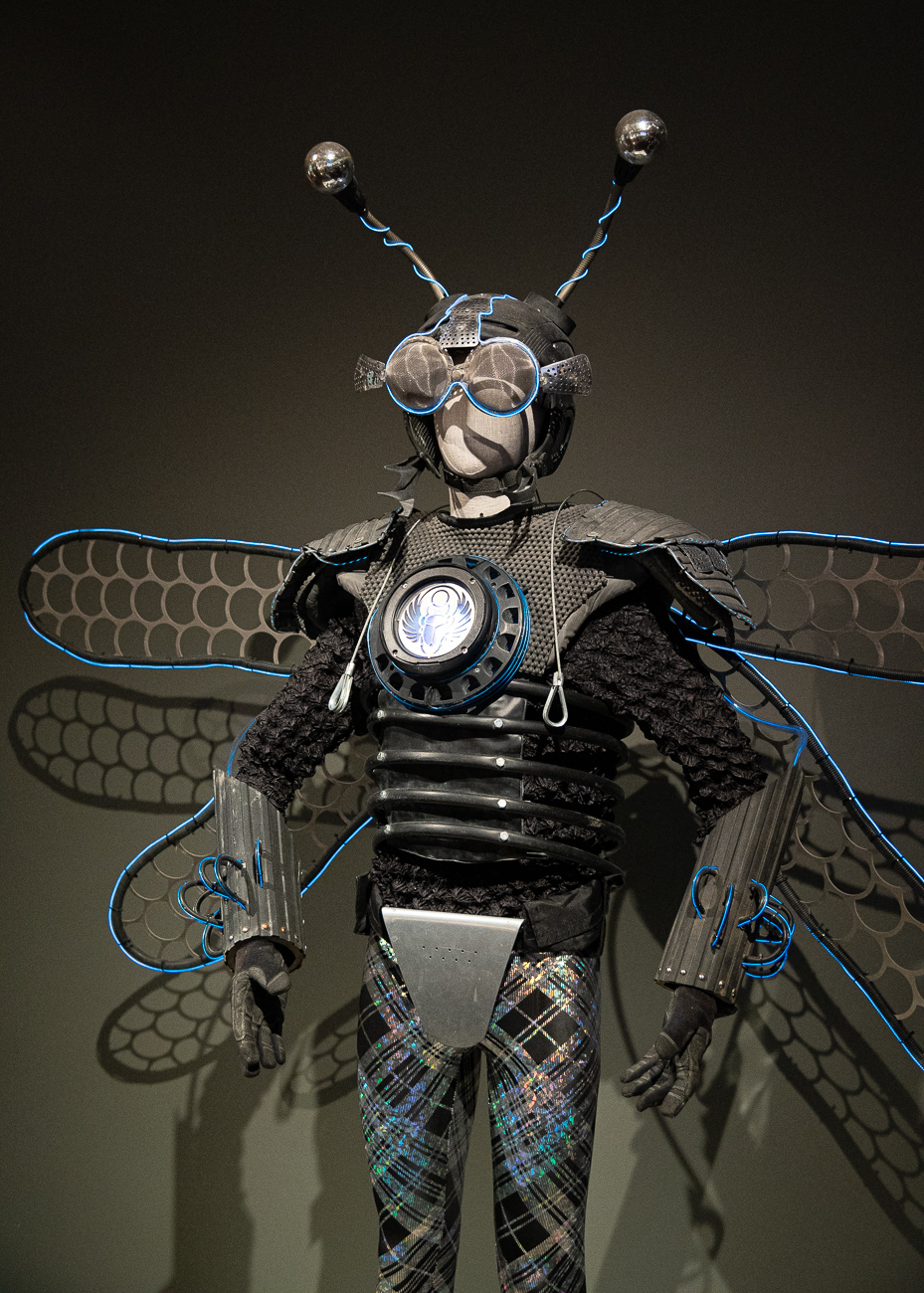 Pictured: Thorax, Ambassador of the Insects (2015-16) by Tyler FuQua / No Spectators: The Art of Burning Man, while still smoldering from its hot feature in DC's prestigious Renwick Gallery, spreads its colorful tendrils throughout two floors of the Cincinnati Art Museum from now until September 2, 2019. CAM is the only museum in the entire Midwest that's planned to receive the show, attracting spectators (despite its title) from peer cities around the country. Burning Man is a contemporary art show that gathers in the desert outside Reno, Nevada once a year. The exhibit, which pulls art from Burning Man, puts installations in various galleries throughout the museum to encourage exploration. / Image: Phil Armstrong, Cincinnati Refined // Published: 6.21.19