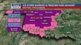 Ice Storm Warning issued for Oklahoma City as more storms move into the state