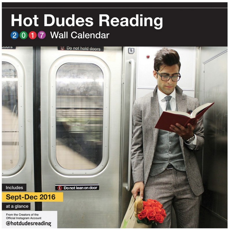 Chronicle Books 'Hot Dudes Reading' 2017 Wall Calendar ($14.99). Find on nordstrom.com. (Image: Nordstrom)