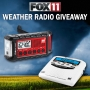 2017 FOX 11 Weather Radio Giveaway