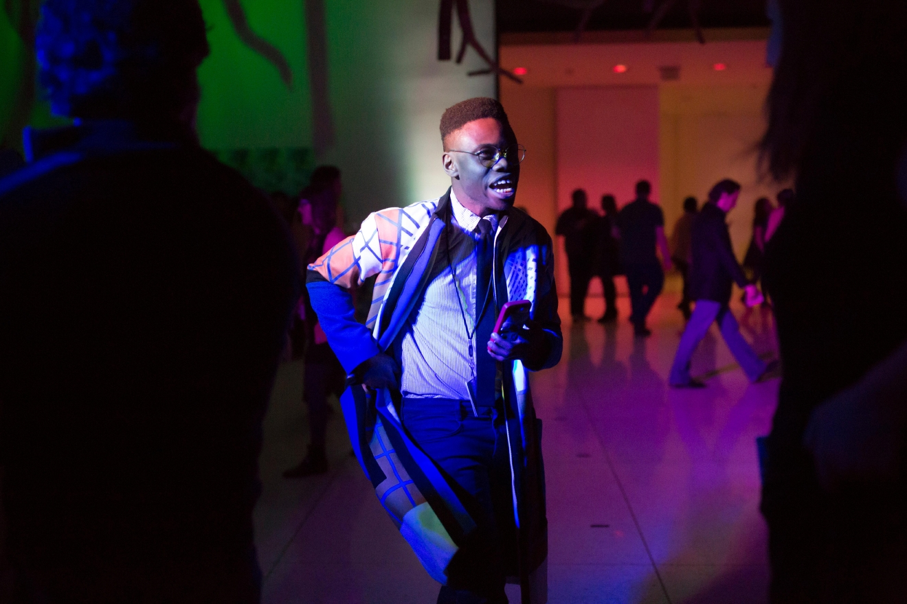 During Remix - every floor of the Seattle Art Museum is transformed with eclectic performances, tours, dancing, creating, and exploring SAM's collection and special exhibitions. Friday March 24th's event was inspired by 'Seeing Nature: Landscape Masterworks' from the Paul G. Allen Family Collection and 'Jacob Lawrence: The Migration Series.' (Sy Bean / Seattle Refined)
